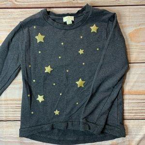 Kate Spade black sweatshirt with gold stars
